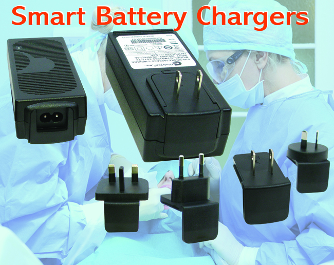Available in versions delivering 4.2V, 8.4V, or 12.6V at 1 A to address single- or multiple-battery configurations, the GTM91128 families of smart Li-Ion battery chargers from GlobTek offer three charging...